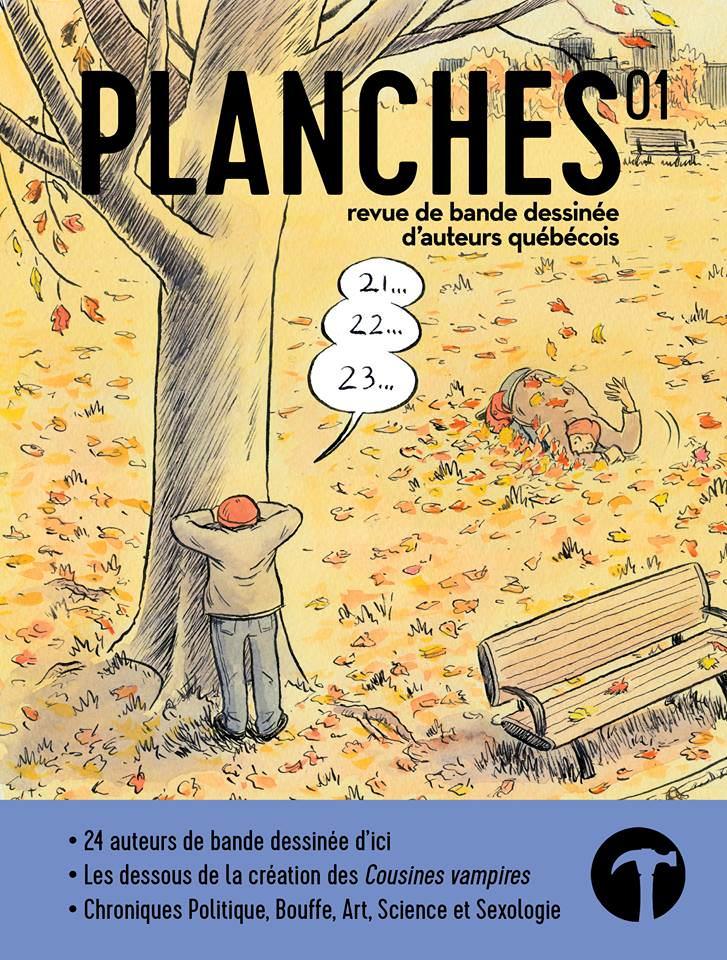 La page couverture du premier numéro de Planches est illustrée par Sylvain Cabot.