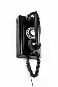 Black Wall Rotary Phone-3