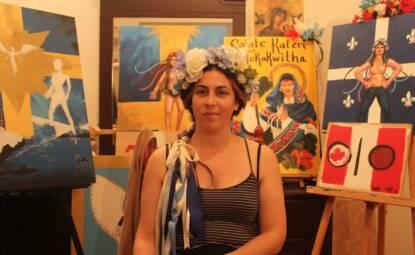 Delphine Bergeron du mouvement Femen, Photo: Michaël Lessard