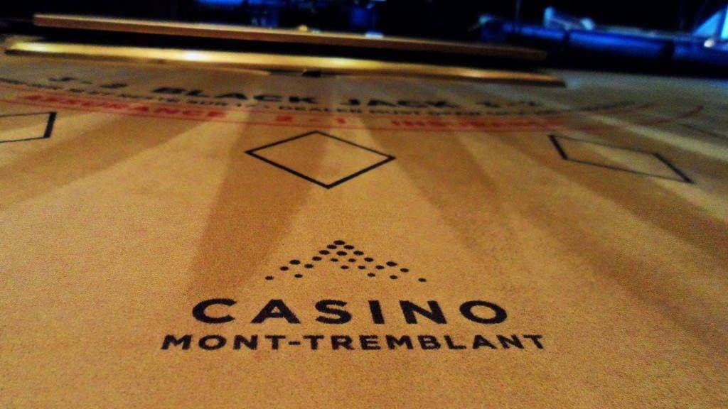 Table de Black Jack au Casino Mont Tremblant