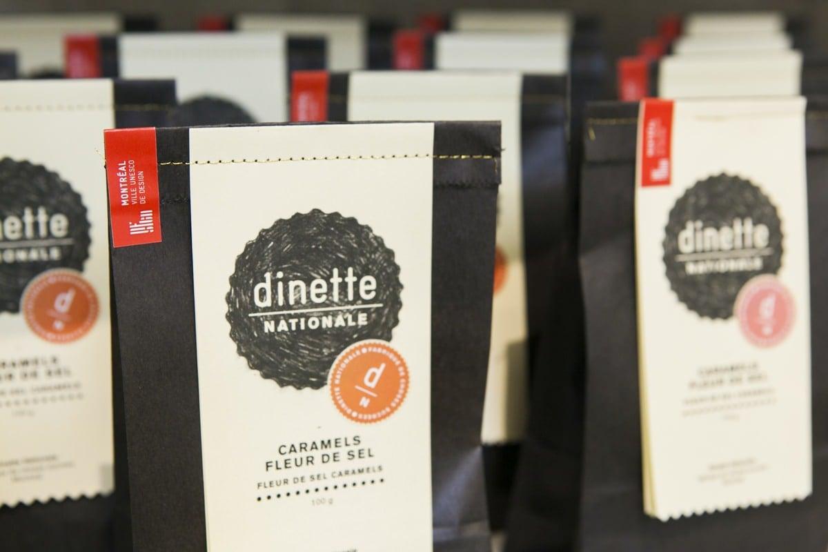 Produits de DINETTE NATIONALE à la boutique éphémère CODE SOUVENIR MONTRÉAL à C2-MTL