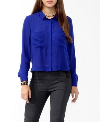 Boxy Button Back Shirt Was-CAD $21.80 Now-CAD $10.99