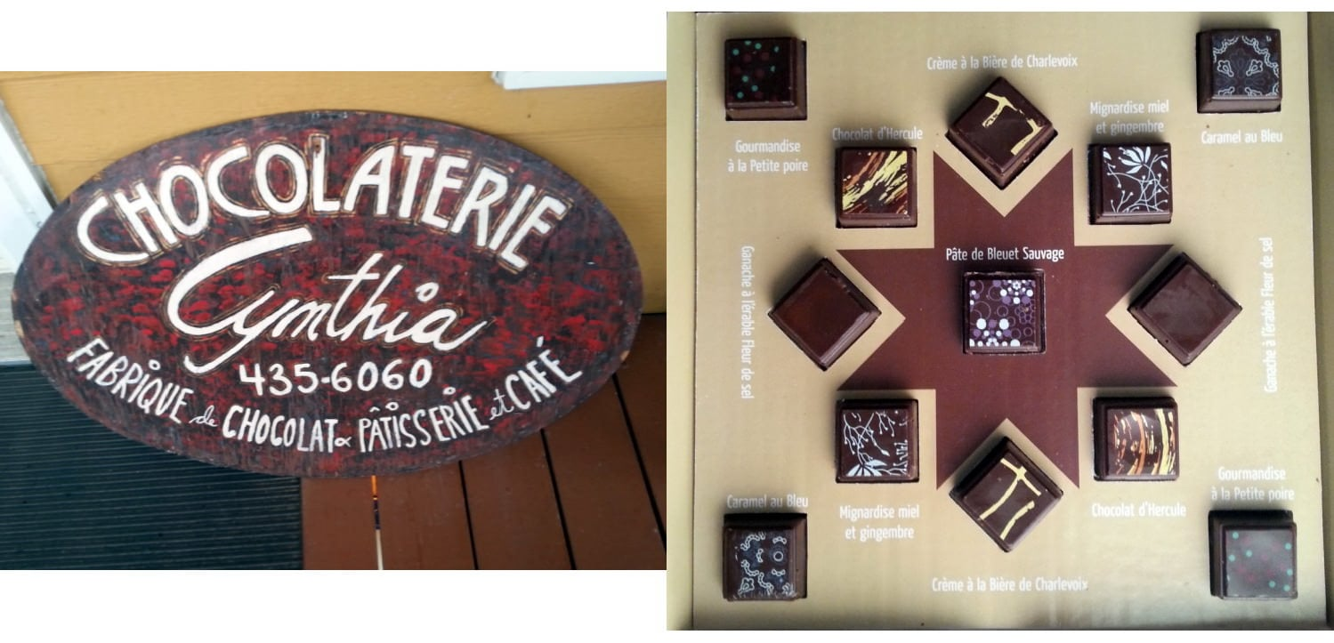 Chocolaterie Cynthia à Baie-St-Paul