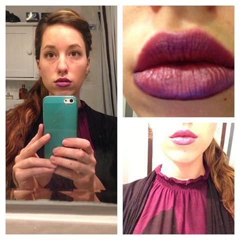 lèvres mauves
