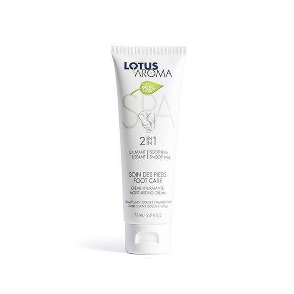 Crème hydratante 2 en 1 pour les pieds de Lotus Aroma