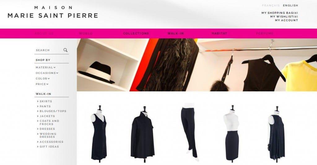 Site Web Marie St-Pierre