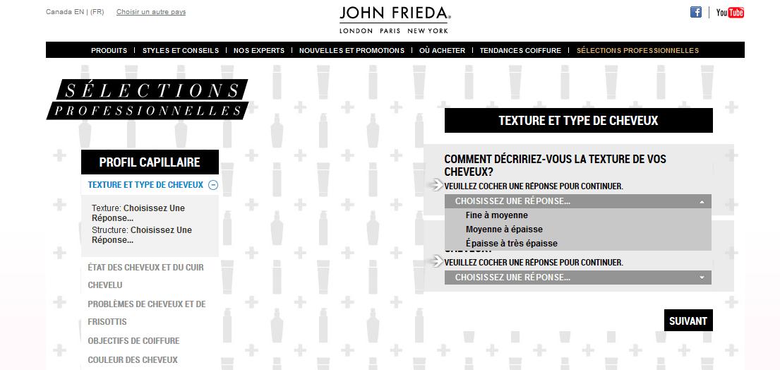 Sélection professionnelle John Frieda