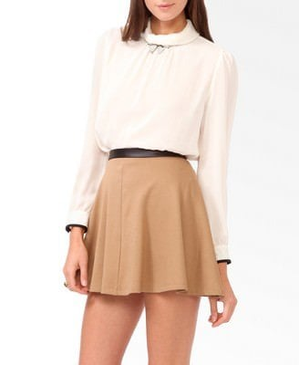 Shirred High Collar Blouse Was-CAD $23.80 Now-CAD $11.99