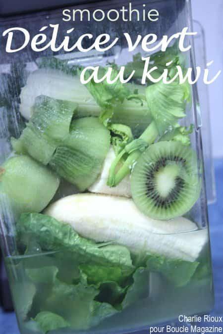 smoothie delice vert au kiwi
