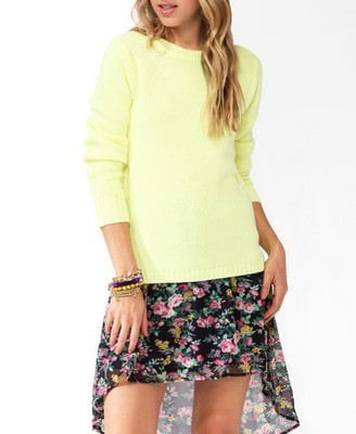 Squared High-Low Sweater Was-CAD $23.80 Now-CAD $11.99