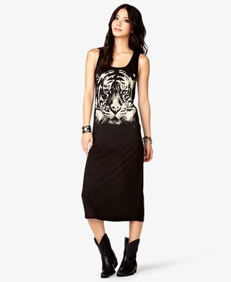 Tiger Graphic Maxi Dress CAD $17.80