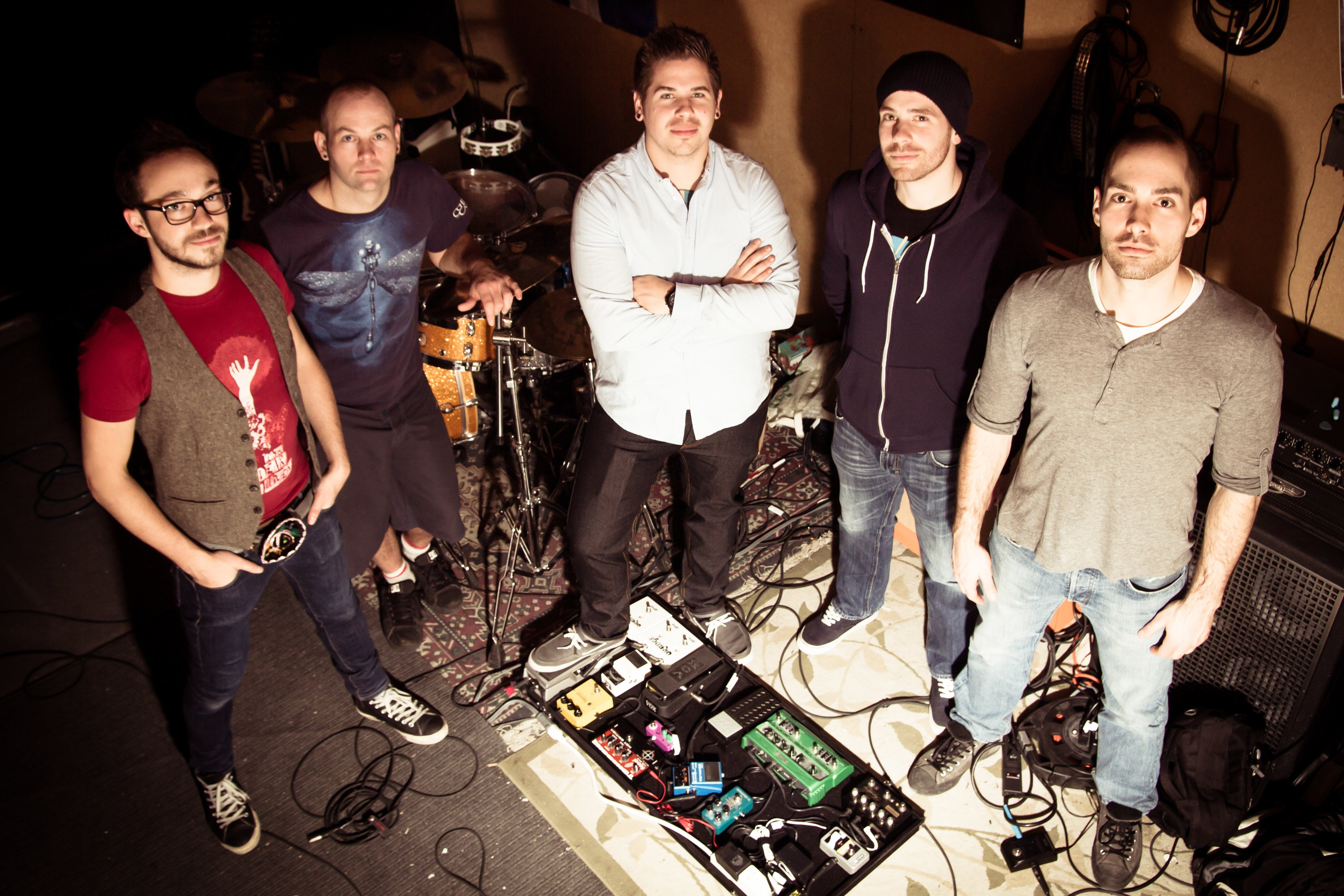 De gauche à droite: Étienne, Dany, Vincent, Martin et Simon
