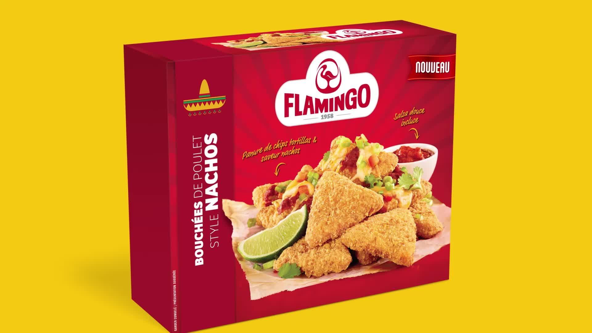 Bouchées de style nachos Flamingo
