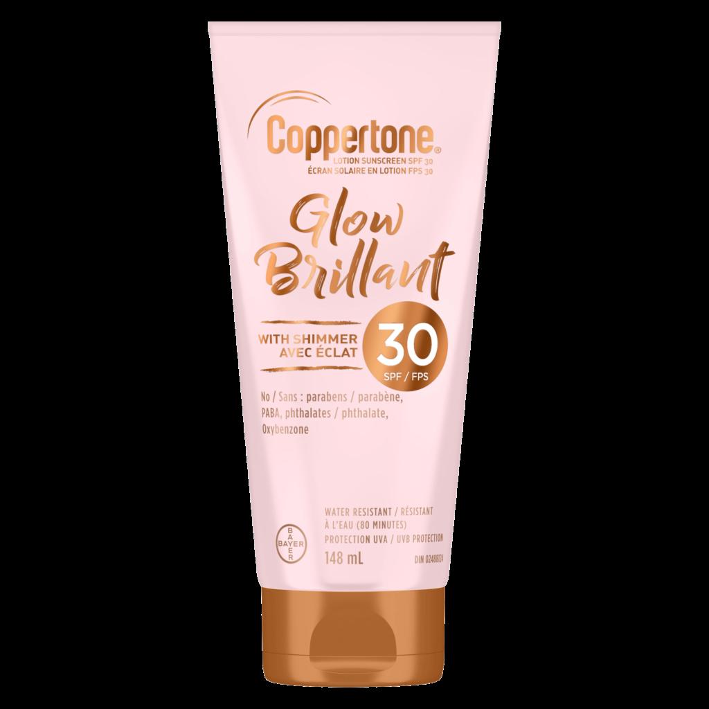 Coppertone lotion solaire avec brillant